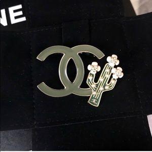 Auth. Chanel RARE CC Cactus Pin / Brooch